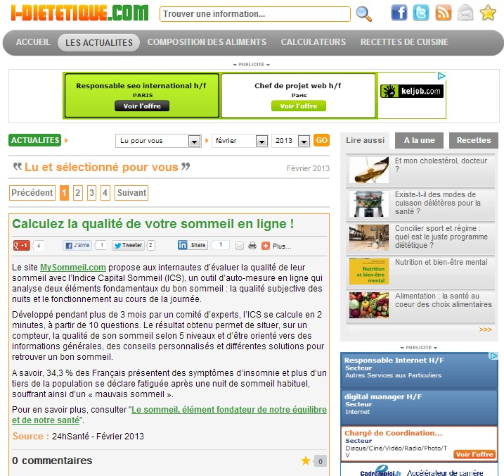 le site i-dietetique